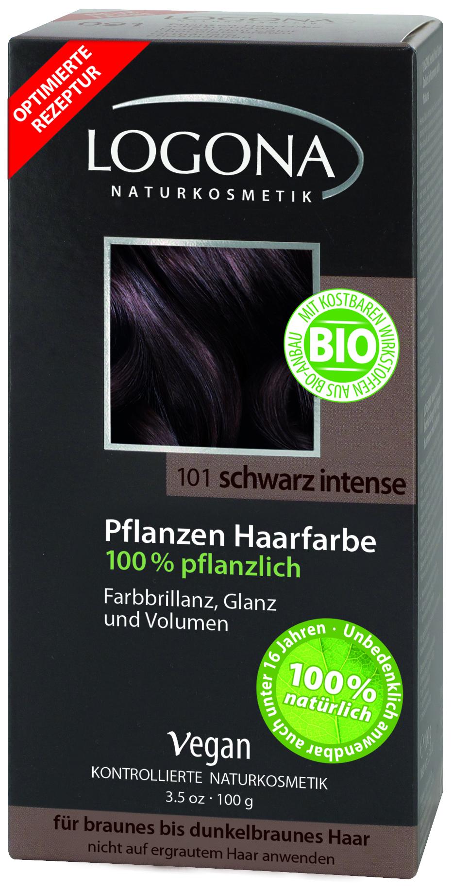 Logona растительная краска для волос 101 «Насыщенно-черный» 100 гр01111Оттенок «Насыщенно-черный» подходит для каштановых и темно-каштановых волос. Растительные краски для волос Logona действуют бережно и дают длительный эффект. Состав из хны и других красящих растений, а также веществ растительного происхождения для ухода за волосами естественным образом укрепляют волосы и придают им больше объема и яркости.
