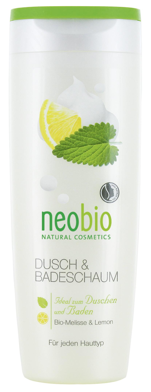 Neobio пена для душа и ванны с био-мелиссой и лимоном 250 мл60100Для всех типов кожи. Мягкие моющие вещества нежно и бережно очищают кожу. Натуральная формула с био-мелиссой и био-экстрактом лимонной цедры интенсивно питает и увлажняет кожу. Пышная, мягкая пена дарит коже нежный ароматом натуральных духов