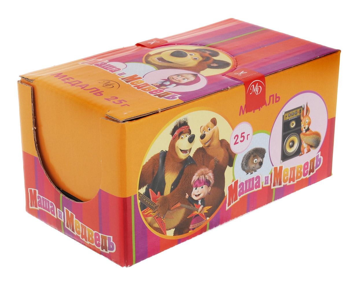 Монетный двор Маша и Медведь шоколадные медали, 24 шт по 25 г paw patrol шоколадные медали 21 г по 24 шт