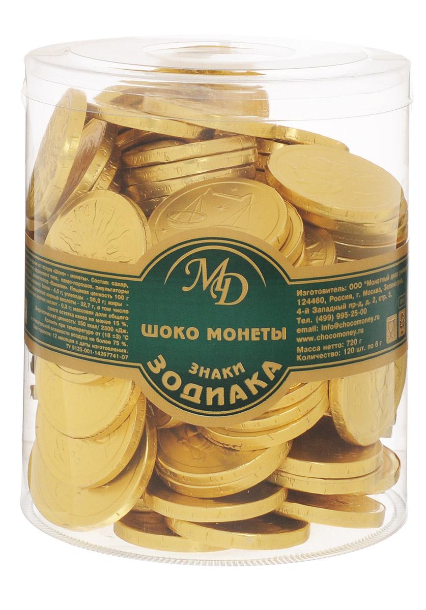 Монетный двор Шоколадные монеты Знаки Зодиака, 120 шт по 6 г (пластиковая банка)3404Шоколад не зря ценился нашими предками на вес золота - в этом продукте кроются удивительные свойства, которые способствуют поднятию настроения и дарят улыбку, не говоря уже об удивительном, ярком вкусе, которым обладает настоящий шоколад отборных сортов. Все эти качества, а еще необычный внешний вид сошлись в одном из самых популярных продуктов - шоколадных монетах.Шоколадные монеты Знаки зодиака - изящные, красивые и, конечно, очень вкусные, выполненные из нежнейшей шоколадной глазури.