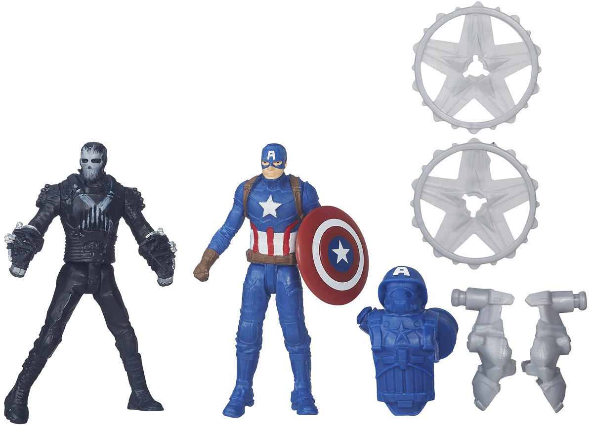 Avengers Набор фигурок Captain America vs Marvel's Crossbones 1pc captain america marvel super heroes the avengers diy figures assemble building blocks kids toys xmas gift