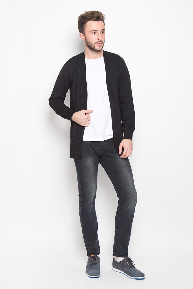 Кардиган мужской Broadway Nonger, цвет: черный. 20100268. Размер L (50) пуловеры broadway пуловер
