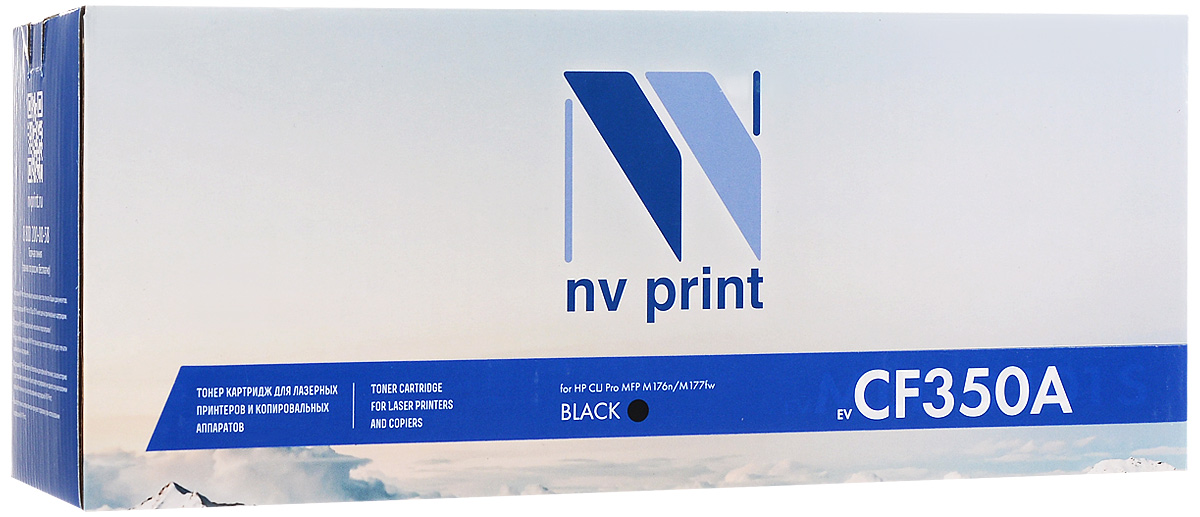 NV Print CF350A, Black тонер-картридж для HP CLJ Pro MFP M176n/M177fw nv print cf212a cartridge 731 yellow тонер картридж для hp laserjet pro m251 m276 canon lbp 7100cn 7110cw