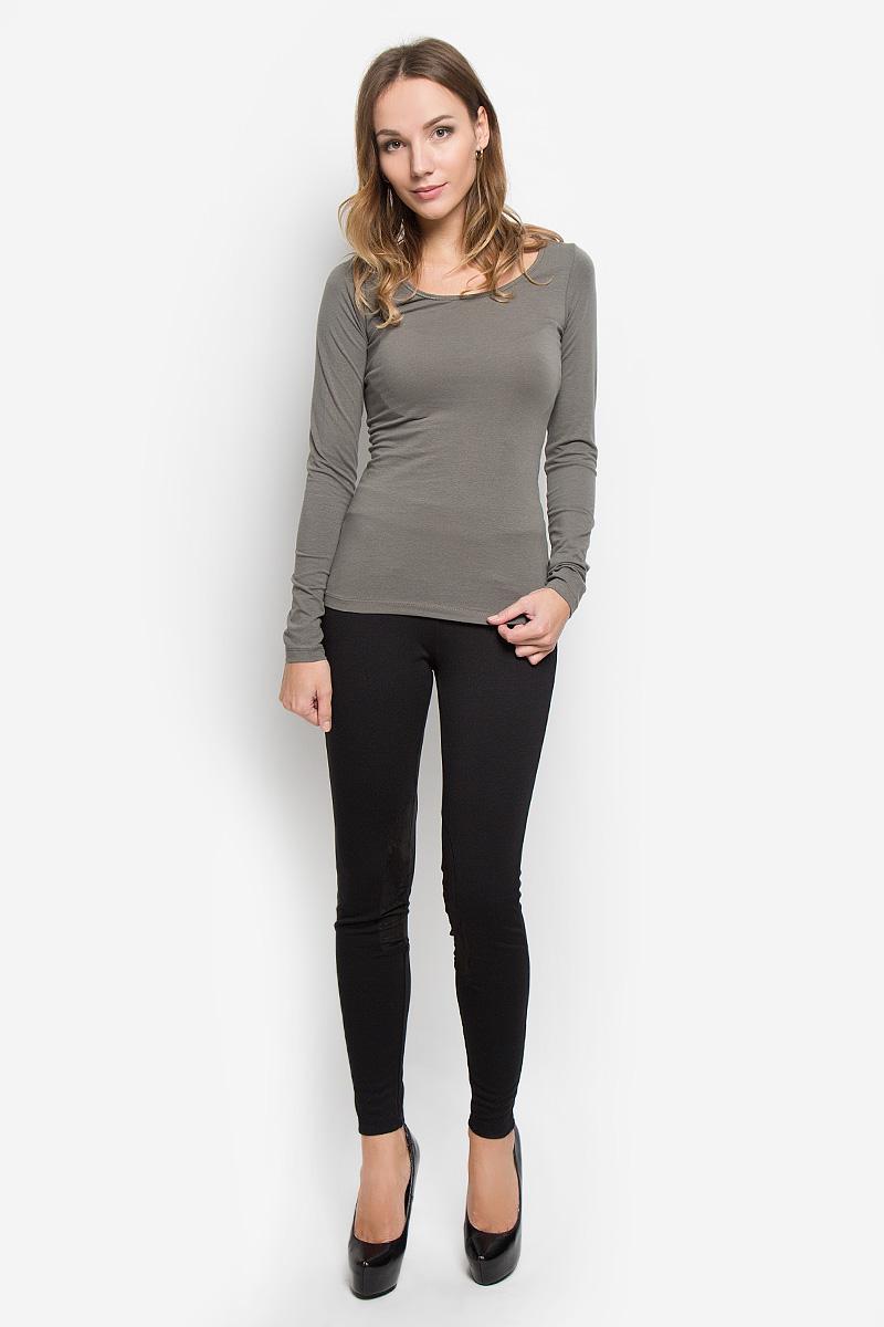 Лонгслив женский Broadway Alessia, цвет: оливковый. 10156602. Размер L (48)10156602_675Женский лонгслив Broadway Alessia выполнен из мягкого эластичного хлопка. Материал изделия тактильно приятный, не стесняет движений и позволяет коже дышать, обеспечивая комфорт. Однотонная модель с круглым вырезом горловины - базовый элемент одежды, необходимый для создания большинства повседневных образов.Лаконичный дизайн и совершенство стиля подчеркнут вашу индивидуальность!