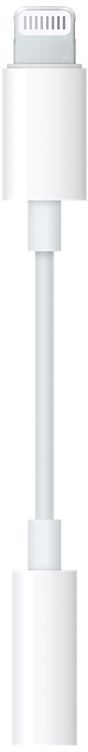 Apple Lightning to 3.5 mm jack, White адаптер