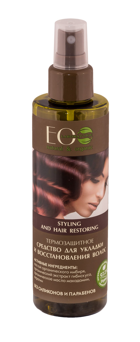 EO laboratorie Средство для укладки и восстановления волос термозащитное 200 мл4627089430489Средство для укладки и укрепления волос содержит более 97% ингредиентов растительного происхождения. Средство для укладки и укрепления волос содержит более 97% ингредиентов растительного происхожденияЗначительно облегчает расчесывание волос, разглаживая их. Продукт не содержит парабенов и силиконов.