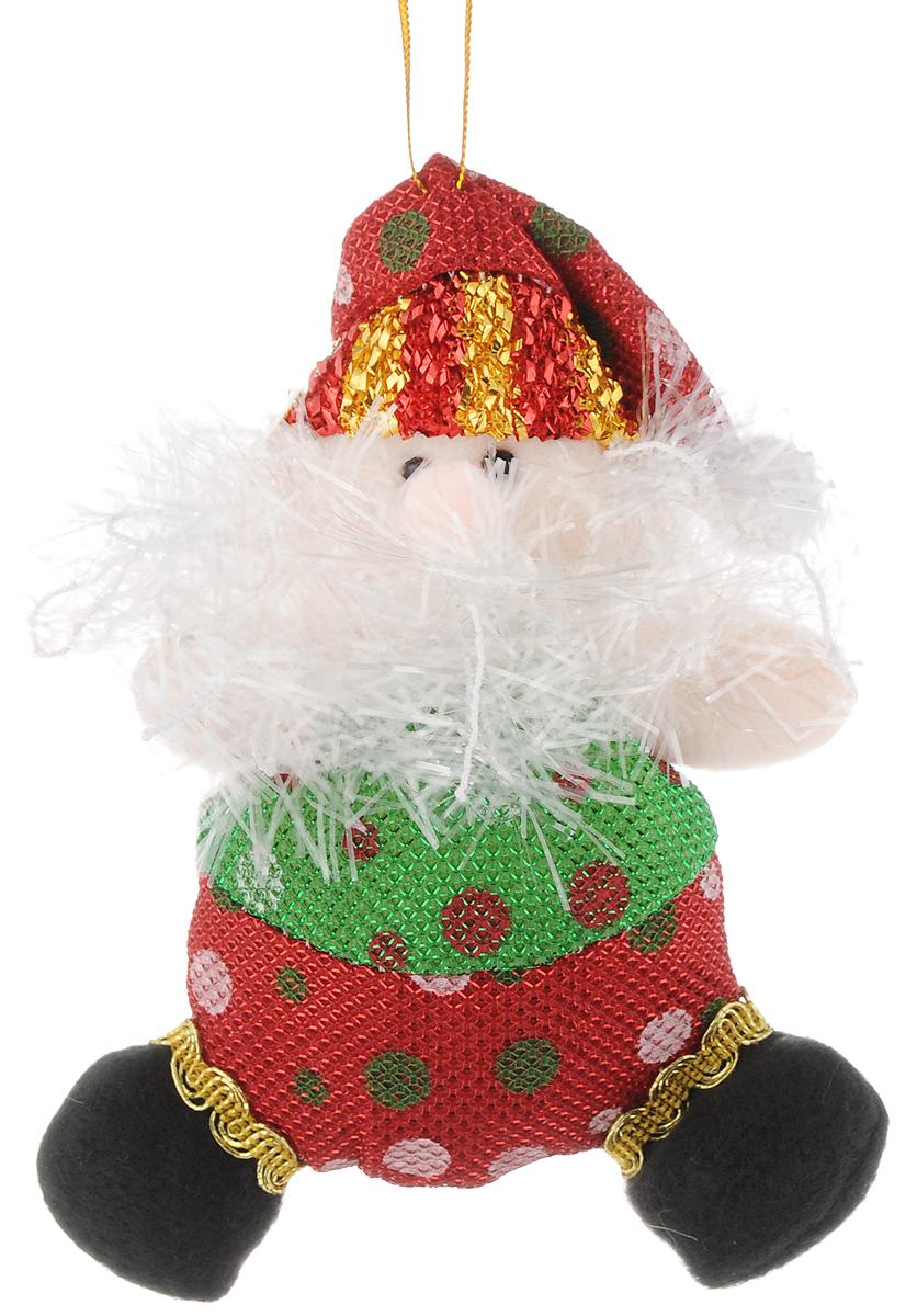 Украшение новогоднее подвесное Феникс-Презент Дедушка Мороз красно-зеленый горошек, 15,5 х 7 см42529Новогоднее подвесное украшение Феникс-Презент Дедушка мороз красно-зеленый горошек выполнено из полиэстера в виде мягкой фигурки Деда Мороза. С помощью специальной петельки украшение можно повесить в любом понравившемся вам месте. Но, конечно, удачнее всего оно будет смотреться на праздничной елке.Елочная игрушка - символ Нового года. Она несет в себе волшебство и красоту праздника. Создайте в своем доме атмосферу веселья и радости, украшая новогоднюю елку нарядными игрушками, которые будут из года в год накапливать теплоту воспоминаний.Материал: полиэстер.Размеры: 15,5 х 7 см.