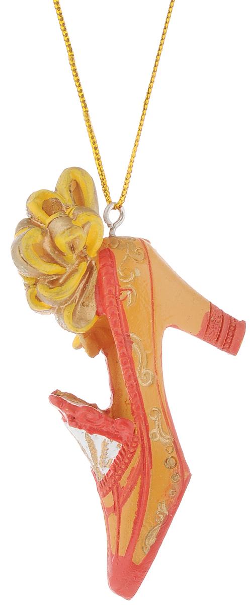 Украшение новогоднее подвесное Феникс-Презент Туфелька, 7 х 2 х 5 см подсвечник декоративный феникс презент цвет голубой 8 5 х 8 5 х 7 5 см