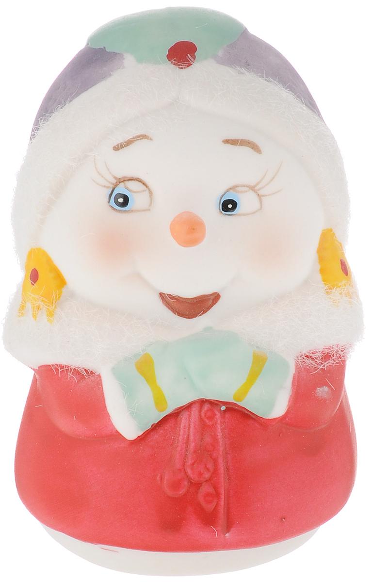 Фигурка новогодняя Феникс-Презент Снеговик-девушка, высота 8 см