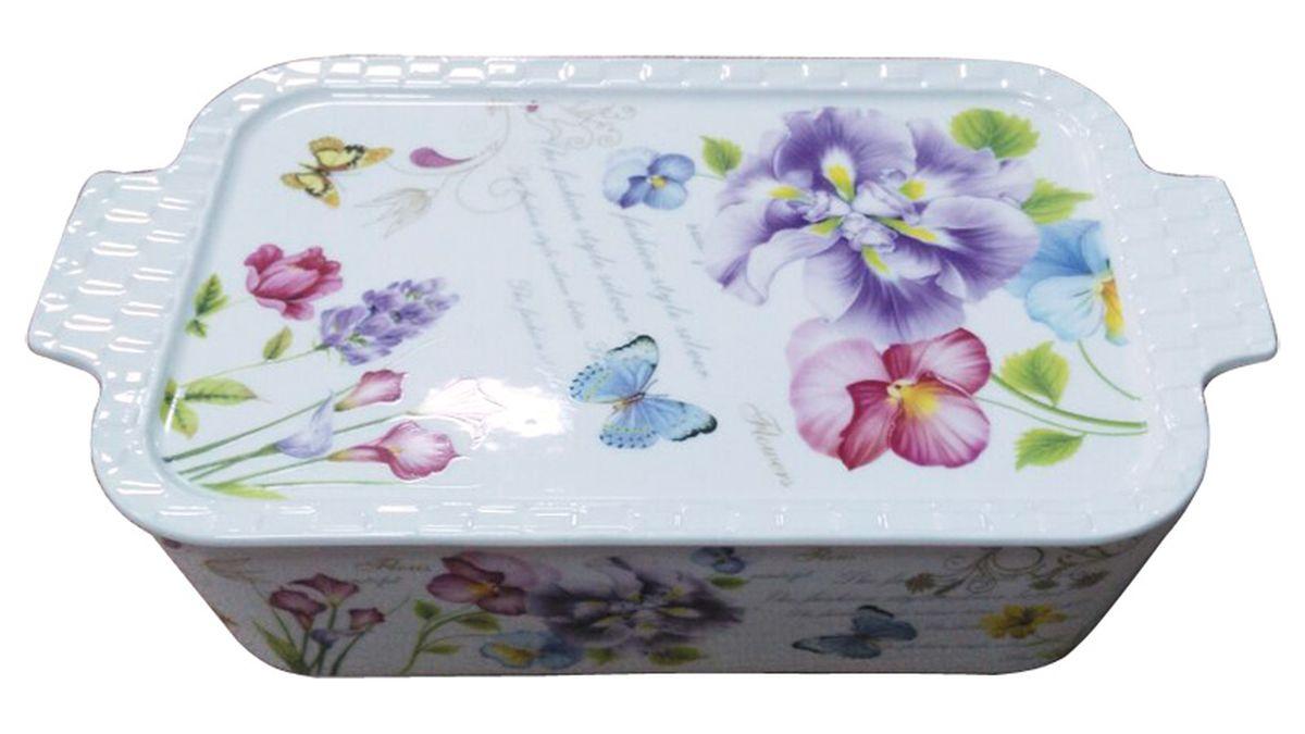 Форма для запекания MFK Vivien, прямоугольная, с крышкой, 35,6 х 20,5 х 9,2 смMFK07029Прямоугольная форма для запекания с крышкой MFK Vivien выполнена из высококачественной жаропрочной керамики. Изделие оснащено удобными ручками. Форма декорирована изображением цветов и бабочек. Изделие из керамики отлично подходит как для приготовления пищи, так и для подачи на стол. Размеры: 35,6 х 20,5 х 9,2 см.