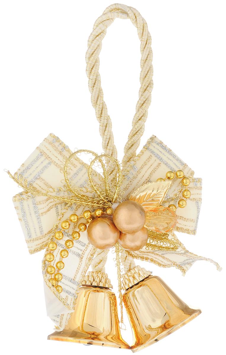 Украшение новогоднее подвесное Magic Time Золотые колокольчики с белым бантиком, высота 10,2 см38599Новогоднее подвесное украшение Magic Time Золотые колокольчики с белымбантиком выполнено из полиэстера и металла в виде бантика с колокольчиками.С помощью петельки украшение можно повесить в любом понравившемся вамместе. Но, конечно, удачнее всего оно будет смотреться на праздничной елке.Елочная игрушка - символ Нового года. Она несет в себе волшебство и красотупраздника. Создайте в своем доме атмосферу веселья и радости, украшаяновогоднюю елку нарядными игрушками, которые будут из года в год накапливатьтеплоту воспоминаний.