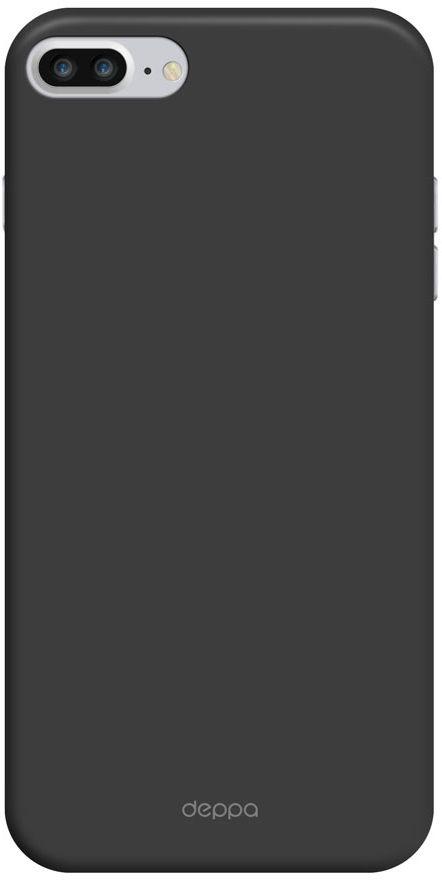 Deppa Air Case чехол для Apple iPhone 7 Plus/8 Plus, Black83272Чехол Deppa Air Case для Apple iPhone 7 Plus - случай редкого сочетания яркости и чувства меры. Это стильная и элегантная деталь вашего образа, которая всегда обращает на себя внимание среди множества вещей. Благодаря покрытию soft touch чехол невероятно приятен на ощупь, поэтому смартфон не хочется выпускать из рук. Ультратонкий чехол (толщиной 1 мм) повторяет контуры самого девайса, при этом готов принимать на себя удары - последствия непрерывного ритма городской жизни.