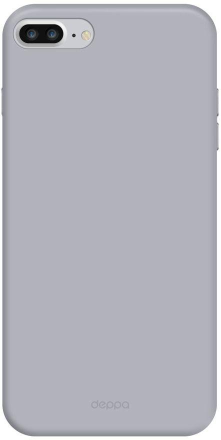 Deppa Air Case чехол для Apple iPhone 7 Plus/8 Plus, Silver83273Чехол Deppa Air Case для Apple iPhone 7 Plus - случай редкого сочетания яркости и чувства меры. Это стильная и элегантная деталь вашего образа, которая всегда обращает на себя внимание среди множества вещей. Благодаря покрытию soft touch чехол невероятно приятен на ощупь, поэтому смартфон не хочется выпускать из рук. Ультратонкий чехол (толщиной 1 мм) повторяет контуры самого девайса, при этом готов принимать на себя удары - последствия непрерывного ритма городской жизни.