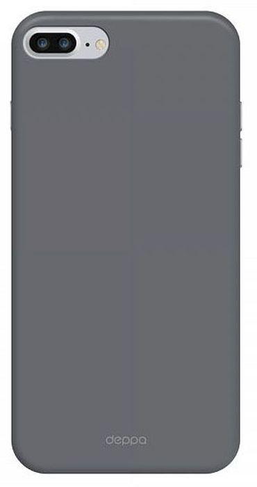 Deppa Air Case чехол для Apple iPhone 7 Plus/8 Plus, Graphite83274Чехол Deppa Air Case для Apple iPhone 7 Plus - случай редкого сочетания яркости и чувства меры. Это стильная и элегантная деталь вашего образа, которая всегда обращает на себя внимание среди множества вещей. Благодаря покрытию soft touch чехол невероятно приятен на ощупь, поэтому смартфон не хочется выпускать из рук. Ультратонкий чехол (толщиной 1 мм) повторяет контуры самого девайса, при этом готов принимать на себя удары - последствия непрерывного ритма городской жизни.