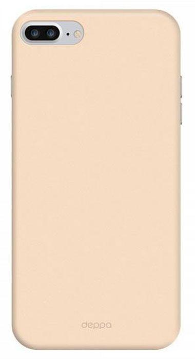 Deppa Air Case чехол для Apple iPhone 7 Plus/8 Plus, Gold83275Чехол Deppa Air Case для Apple iPhone 7 Plus - случай редкого сочетания яркости и чувства меры. Это стильная и элегантная деталь вашего образа, которая всегда обращает на себя внимание среди множества вещей. Благодаря покрытию soft touch чехол невероятно приятен на ощупь, поэтому смартфон не хочется выпускать из рук. Ультратонкий чехол (толщиной 1 мм) повторяет контуры самого девайса, при этом готов принимать на себя удары - последствия непрерывного ритма городской жизни.