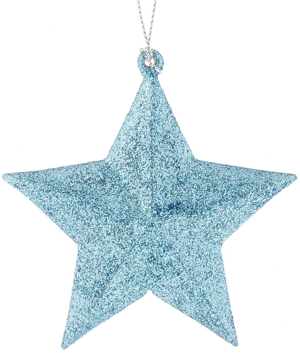 Украшение новогоднее подвесное Magic Time Звезда в голубом глитере, высота 9 см42100/75110Новогоднее подвесное украшение Magic Time Звезда в голубом глитере выполнено из полипропилена в виде звезды и украшено блестками. С помощью специальной петельки украшение можно повесить в любом понравившемся вам месте. Но, конечно, удачнее всего оно будет смотреться на праздничной елке.Елочная игрушка - символ Нового года. Она несет в себе волшебство и красоту праздника. Создайте в своем доме атмосферу веселья и радости, украшая новогоднюю елку нарядными игрушками, которые будут из года в год накапливать теплоту воспоминаний.