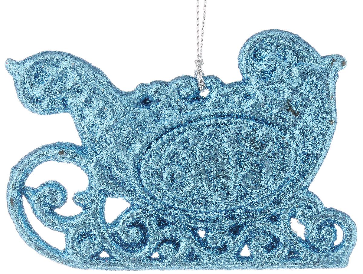 Украшение новогоднее подвесное Magic Time Голубые сани, высота 7 см42109Новогоднее подвесное украшение Magic Time Голубые сани выполнено из полипропилена в виде саней и украшено блестками. С помощью специальной петельки украшение можно повесить в любом понравившемся вам месте. Но, конечно, удачнее всего оно будет смотреться на праздничной елке.Елочная игрушка - символ Нового года. Она несет в себе волшебство и красоту праздника. Создайте в своем доме атмосферу веселья и радости, украшая новогоднюю елку нарядными игрушками, которые будут из года в год накапливать теплоту воспоминаний.
