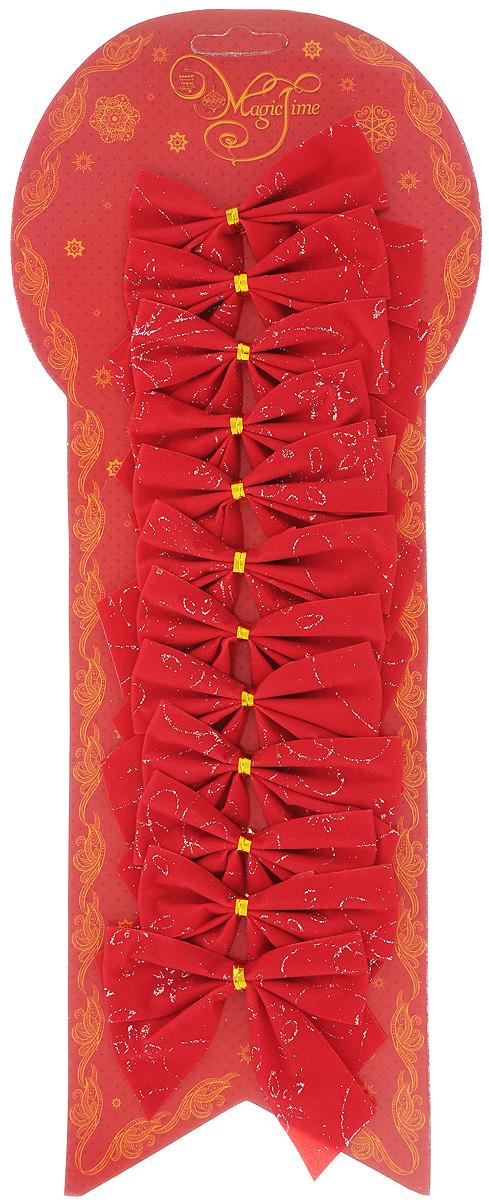 Украшение новогоднее Magic Time Бант. Красные с белым узором, 8 х 8 см, 12 шт42764Новогоднее украшение Magic Time Бант. Красные с белым узором отлично подойдет для декорации вашего дома и новогодней ели. Игрушка выполнена из полиэстера в виде бантика. Украшение можно привязать к ели.Елочная игрушка - символ Нового года. Она несет в себе волшебство и красоту праздника. Создайте в своем доме атмосферу веселья и радости, украшая всей семьей новогоднюю елку нарядными игрушками, которые будут из года в год накапливать теплоту воспоминаний.