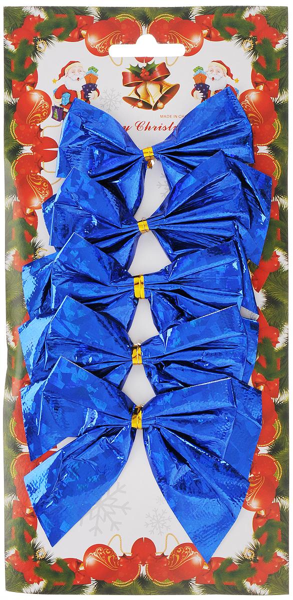 Украшение новогоднее Феникс-Презент Бант, цвет: синий, 8 х 8 см, 5 шт39187Новогоднее украшение Феникс-Презент Бант отлично подойдет для декорации вашего дома и новогодней ели. Игрушка выполнена из полиэстера в виде бантика. Украшение можно привязать к ели.Елочная игрушка - символ Нового года. Она несет в себе волшебство и красоту праздника. Создайте в своем доме атмосферу веселья и радости, украшая всей семьей новогоднюю елку нарядными игрушками, которые будут из года в год накапливать теплоту воспоминаний.