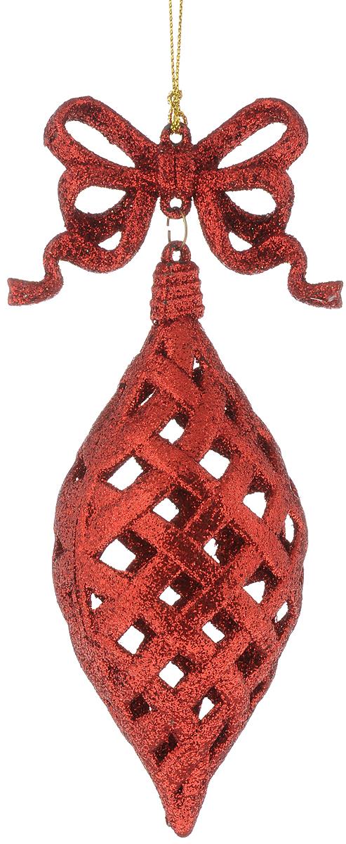 Украшение новогоднее подвесное Magic Time Красная сосулька, длина 16 см42108/75124Новогоднее подвесное украшение Magic Time Красная сосулька выполнено из полипропилена в виде сосульки и украшено блестками. С помощью специальной петельки украшение можно повесить в любом понравившемся вам месте. Но, конечно, удачнее всего оно будет смотреться на праздничной елке.Елочная игрушка - символ Нового года. Она несет в себе волшебство и красоту праздника. Создайте в своем доме атмосферу веселья и радости, украшая новогоднюю елку нарядными игрушками, которые будут из года в год накапливать теплоту воспоминаний.