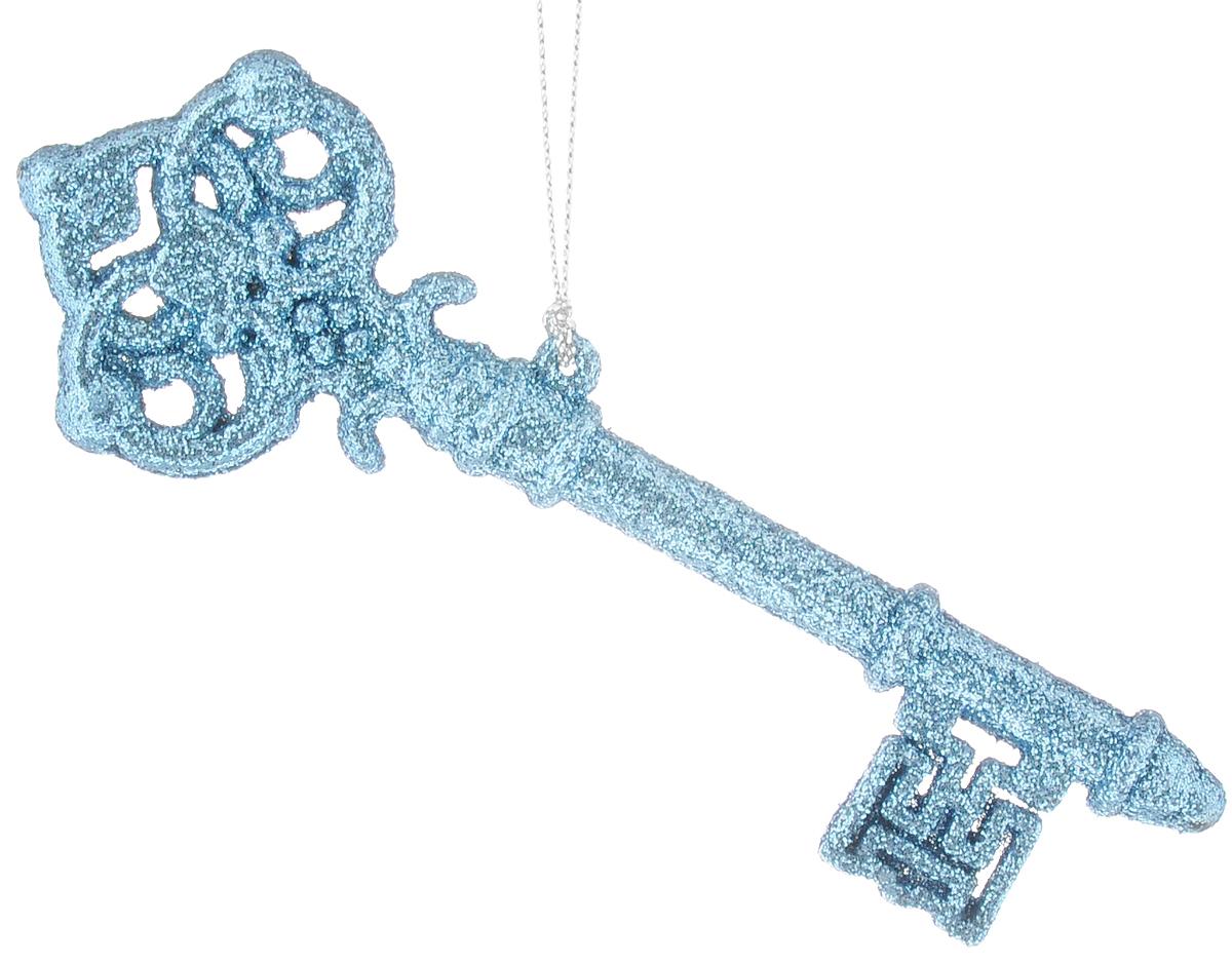 Украшение новогоднее подвесное Magic Time Голубой ключик, высота 14,5 см42106Новогоднее подвесное украшение Magic Time Голубой ключик выполнено из полипропилен в виде ключика и украшено блестками. С помощью специальной петельки украшение можно повесить в любом понравившемся вам месте. Но, конечно, удачнее всего оно будет смотреться на праздничной елке.Елочная игрушка - символ Нового года. Она несет в себе волшебство и красоту праздника. Создайте в своем доме атмосферу веселья и радости, украшая новогоднюю елку нарядными игрушками, которые будут из года в год накапливать теплоту воспоминаний.