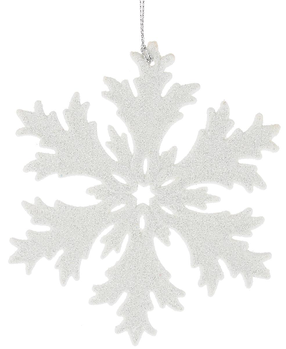 Украшение новогоднее подвесное Magic Time Снежинка в белом глиттере, высота 12 см38717/75089Новогоднее подвесное украшение Magic Time Снежинка в белом глиттере выполнено из полипропилена в виде снежинки и украшено блестками. С помощью специальной петельки украшение можно повесить в любом понравившемся вам месте. Но, конечно, удачнее всего оно будет смотреться на праздничной елке.Елочная игрушка - символ Нового года. Она несет в себе волшебство и красоту праздника. Создайте в своем доме атмосферу веселья и радости, украшая новогоднюю елку нарядными игрушками, которые будут из года в год накапливать теплоту воспоминаний.
