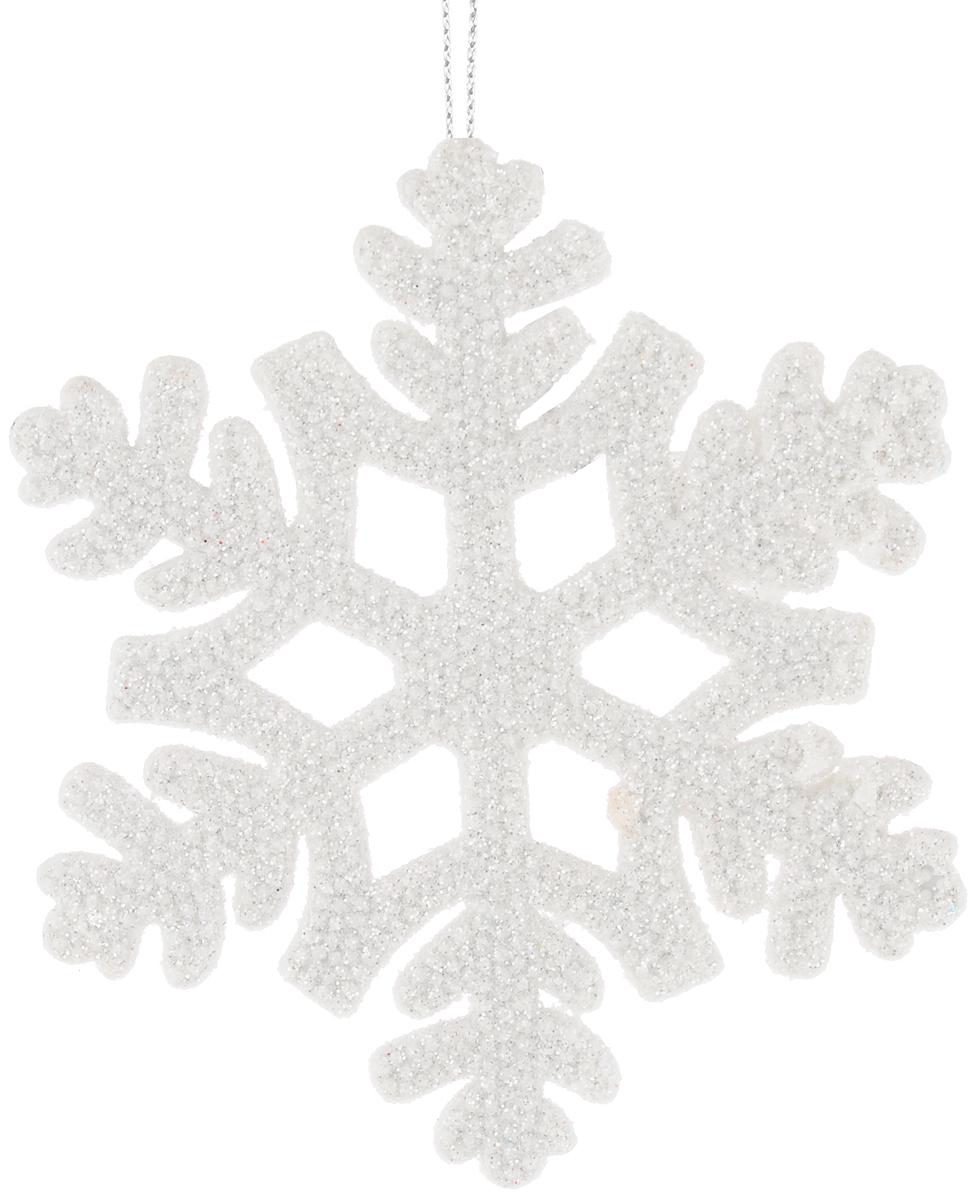 Украшение новогоднее подвесное Magic Time Снежинка, цвет: белый, 10,5 х 10,5 см38725/75094Новогоднее подвесное украшение Magic Time Снежинка выполнено из полипропилена в виде снежинки и украшено блестками. С помощью специальной петельки украшение можно повесить в любом понравившемся вам месте. Но, конечно, удачнее всего оно будет смотреться на праздничной елке.Елочная игрушка - символ Нового года. Она несет в себе волшебство и красоту праздника. Создайте в своем доме атмосферу веселья и радости, украшая новогоднюю елку нарядными игрушками, которые будут из года в год накапливать теплоту воспоминаний.Материал: полипропилен.Размер: 10,5 х 10,5 см.
