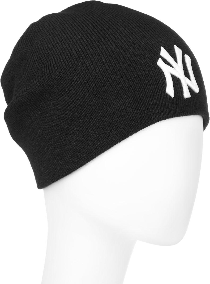 Шапка New Era Mlb Skull Knit, цвет: черный. 11277694. Размер универсальный11277694-BLKWHTВязаная шапка New Era Mlb Skull Knit выполнена из 100% акрила. Шапка украшена вышивкой в виде букв NY.