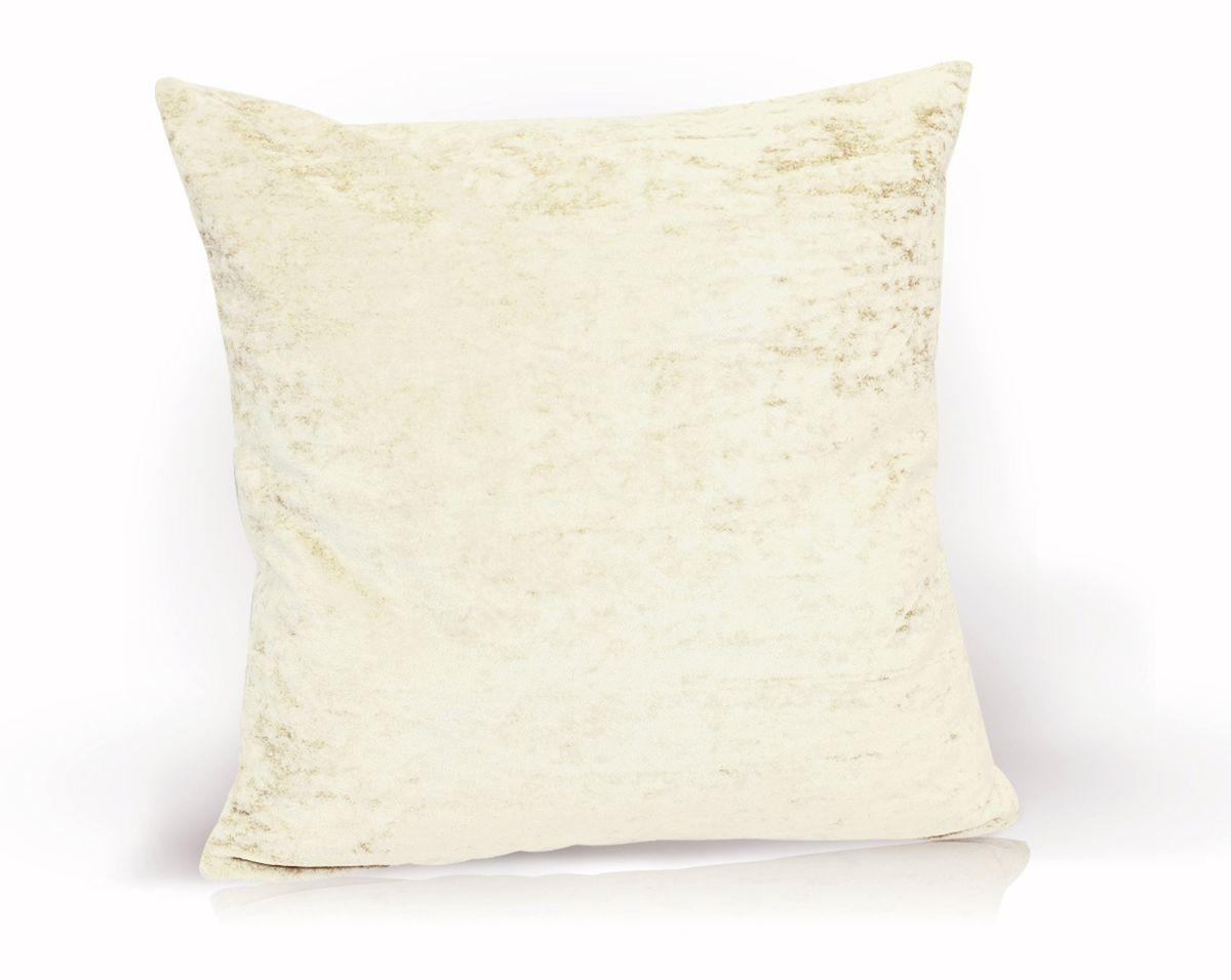 Подушка декоративная KauffOrt Бархат, цвет: молочный, 40 x 40 см3121039615Декоративная подушка Бархат прекрасно дополнит интерьер спальни или гостиной. Бархатистый на ощупь чехол подушки выполнен из 49% вискозы, 42% хлопка и 9% полиэстера. Внутри находится мягкий наполнитель. Чехол легко снимается благодаря потайной молнии.