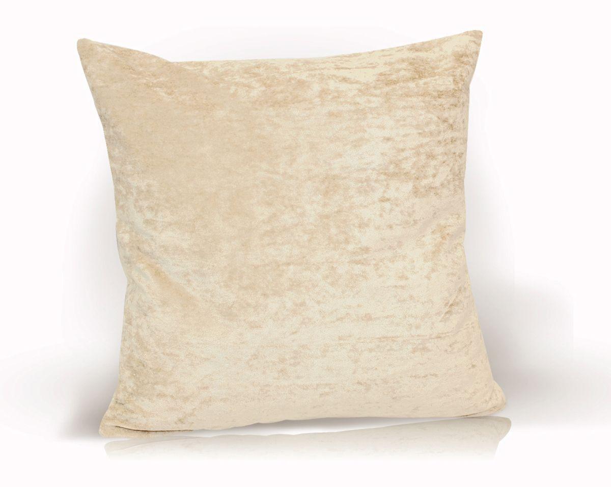 Подушка декоративная KauffOrt Бархат, цвет: светло-бежевый, 40 x 40 см3121039620Декоративная подушка Бархат прекрасно дополнит интерьер спальни или гостиной. Бархатистый на ощупь чехол подушки выполнен из 49% вискозы, 42% хлопка и 9% полиэстера. Внутри находится мягкий наполнитель. Чехол легко снимается благодаря потайной молнии.