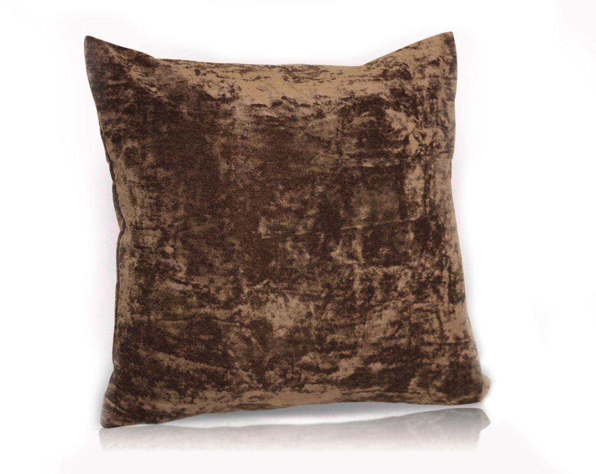 Подушка декоративная KauffOrt Бархат, цвет: темно-коричневый, 40 x 40 см3121039637Декоративная подушка Бархат прекрасно дополнит интерьер спальни или гостиной. Бархатистый на ощупь чехол подушки выполнен из 49% вискозы, 42% хлопка и 9% полиэстера. Внутри находится мягкий наполнитель. Чехол легко снимается благодаря потайной молнии.