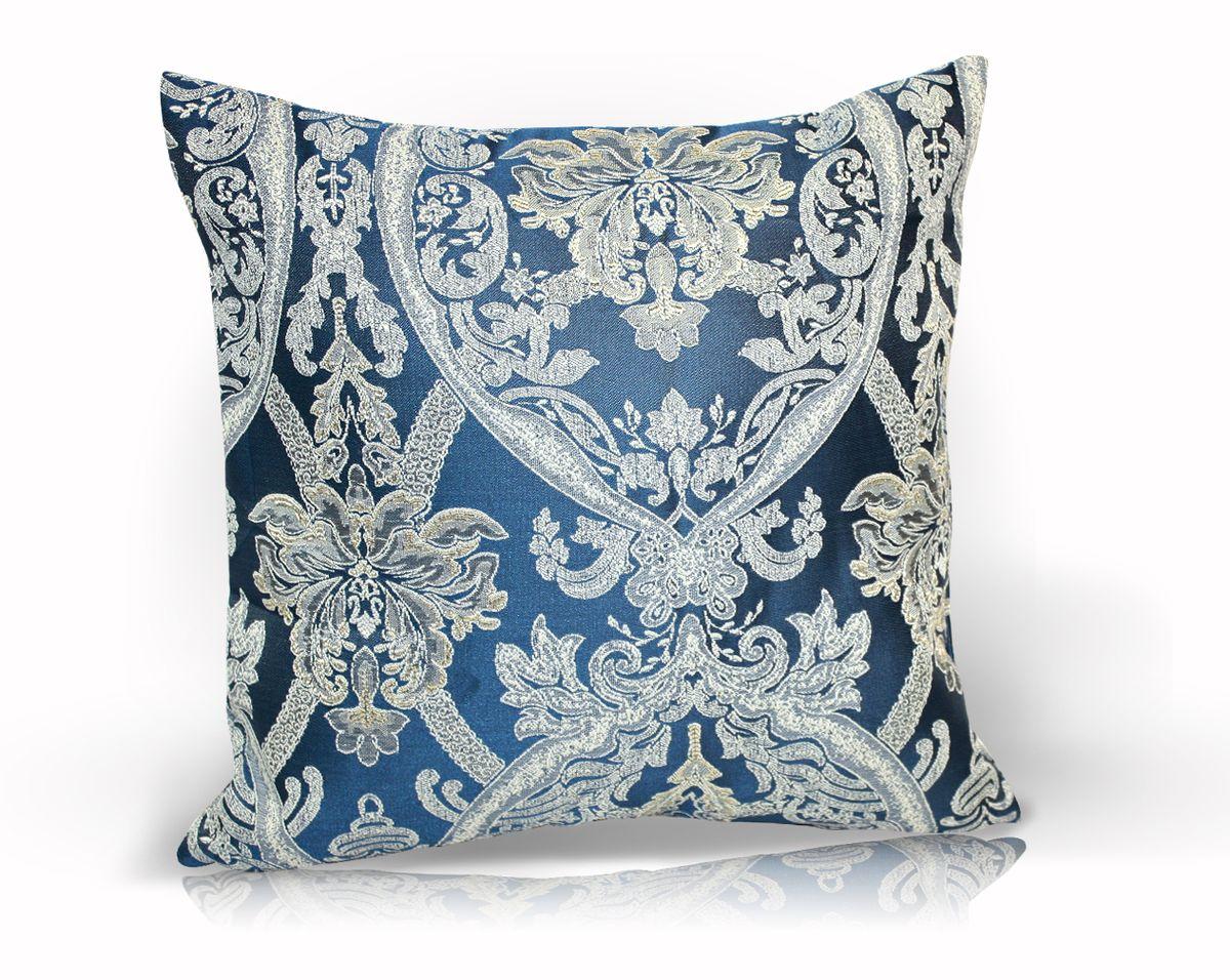 Подушка декоративная KauffOrt Мауритани, цвет: синий, 40 x 40 см3121041640Декоративная подушка KauffOrt Мауритани прекрасно дополнит интерьер спальни или гостиной. Мягкий на ощупь чехол подушки выполнен из 100% полиэстера. Внутри находится мягкий наполнитель, выполненный из холлофайбера. Чехол легко снимается благодаря молнии.Красивая подушка создаст атмосферу уюта и комфорта в спальне и станет прекрасным элементом декора.