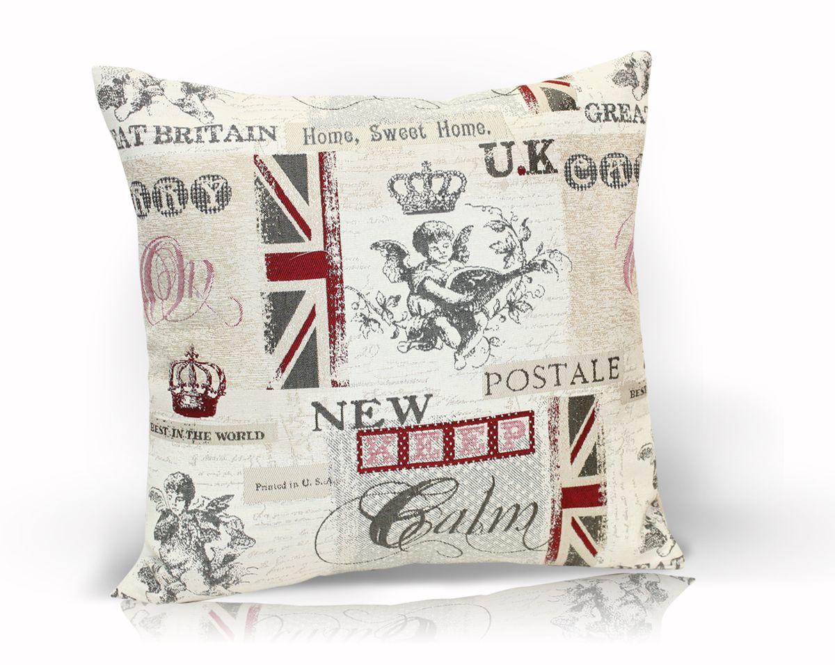 Подушка декоративная KauffOrt Британия, 40 x 40 см подушка декоративная kauffort виона цвет бежевый 40 x 40 см