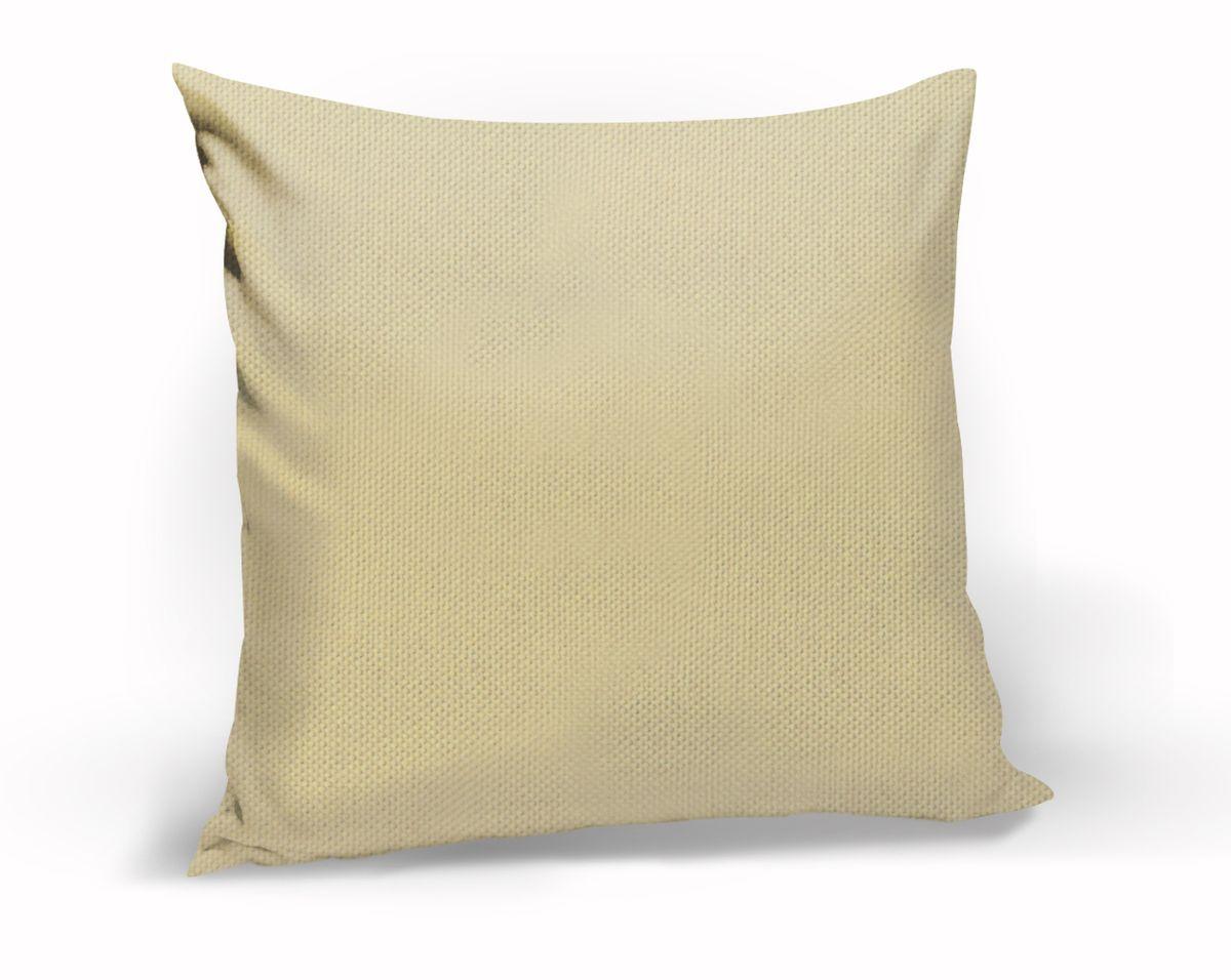 Подушка декоративная KauffOrt Комо, цвет: бежевый, 40 x 40 см3121540120Декоративная подушка Комо прекрасно дополнит интерьер спальни или гостиной. Чехол подушки выполнен из лонеты. Внутри находится мягкий наполнитель. Чехол легко снимается благодаря потайной молнии.