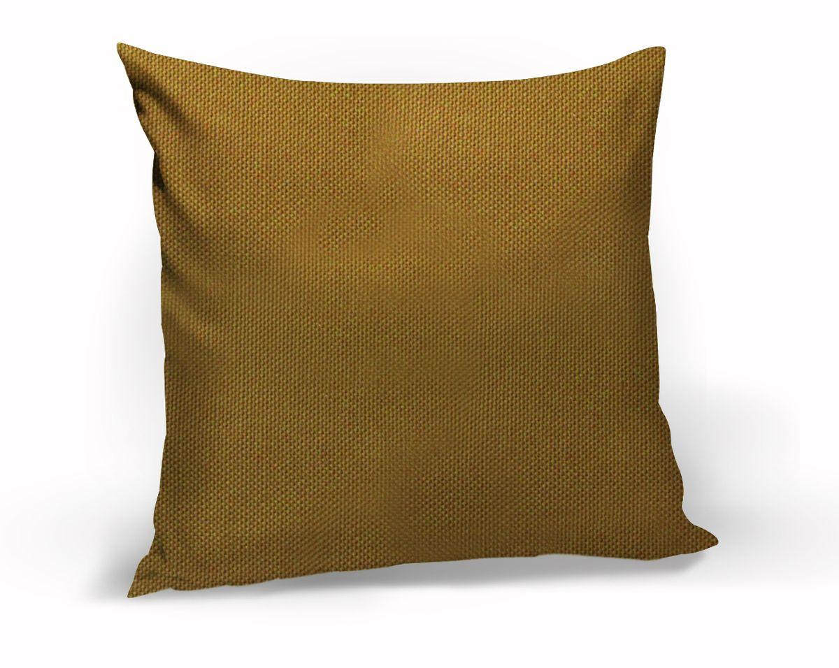 Подушка декоративная KauffOrt Комо, цвет: горчичный, 40 x 40 см3121540150Декоративная подушка Комо прекрасно дополнит интерьер спальни или гостиной. Чехол подушки выполнен из лонеты. Внутри находится мягкий наполнитель. Чехол легко снимается благодаря потайной молнии.