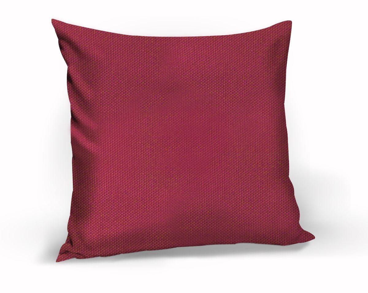 Подушка декоративная KauffOrt Комо, цвет: малиновый, 40 x 40 см3121540170Декоративная подушка Комо прекрасно дополнит интерьер спальни или гостиной. Чехол подушки выполнен из лонеты. Внутри находится мягкий наполнитель. Чехол легко снимается благодаря потайной молнии.