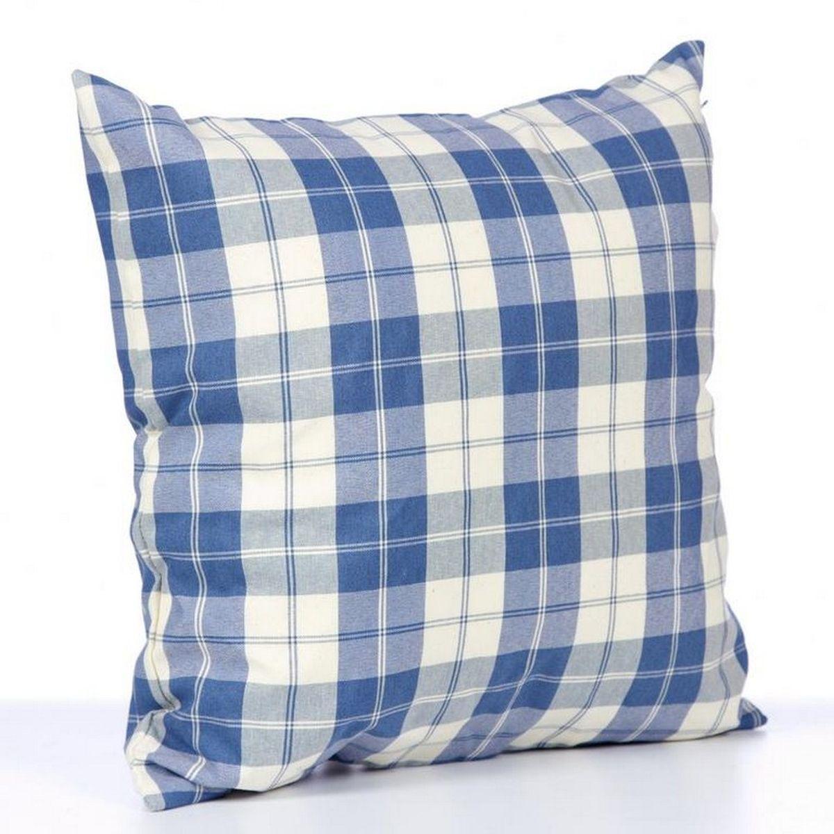 Подушка декоративная KauffOrt Коттедж, цвет: синий, 39 x 39 см3122113640Декоративная подушка Коттедж прекрасно дополнит интерьер спальни или гостиной. Чехол подушки выполнен из 55% хлопка, 30% полиэстера, 15% акрила. Внутри находится мягкий наполнитель. Чехол легко снимается благодаря потайной молнии.