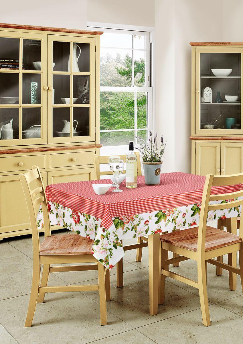 """Квадратная скатерть Kauffort """"Лилу"""" органично впишется в интерьер вашей кухни, а оригинальный дизайн удовлетворит даже самый изысканный вкус. Скатерть выполнена из хлопка и полиэстера и оформлена привлекательным цветочным принтом. Размер: 90 x 90 см."""