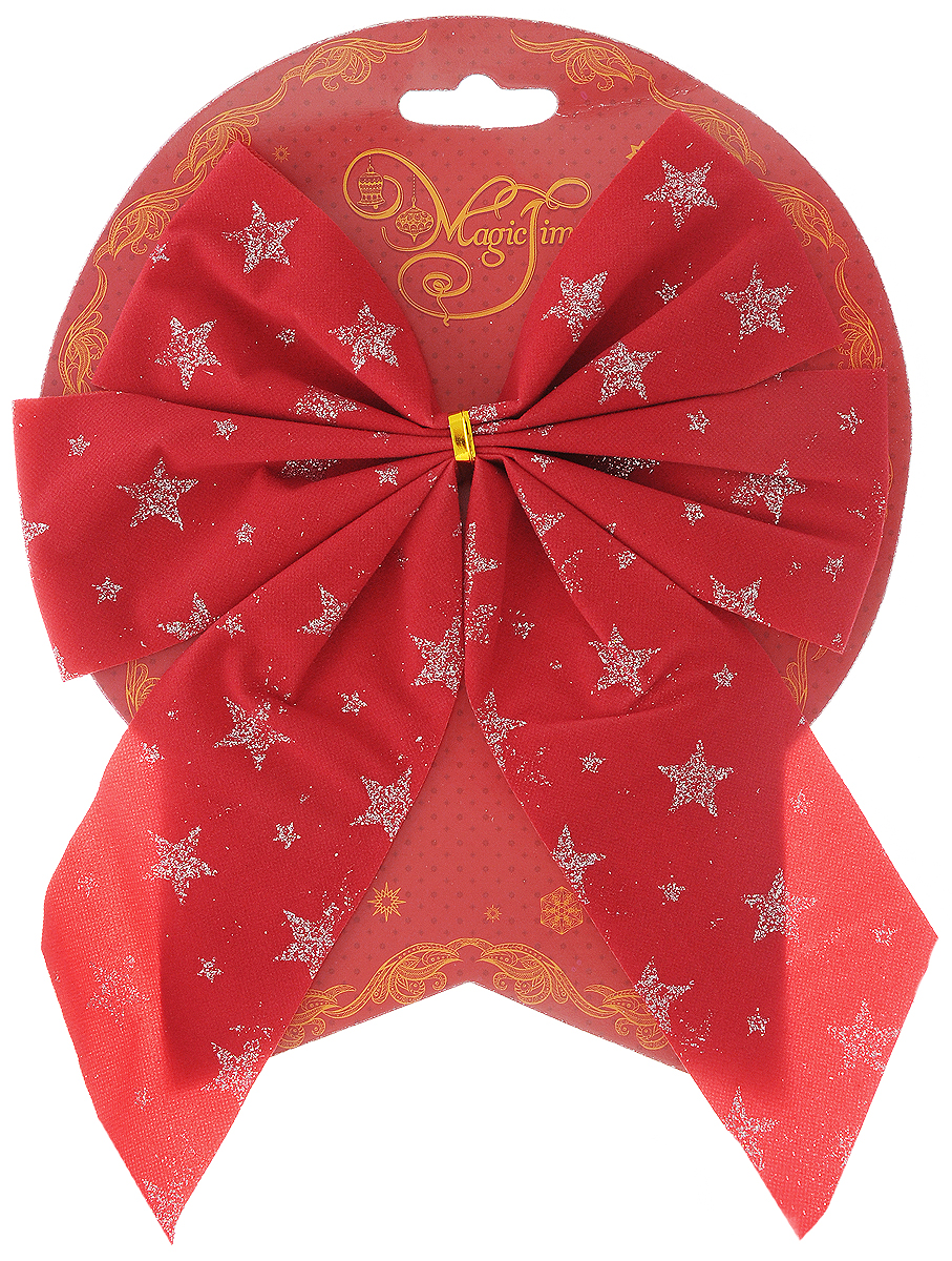 Украшение новогоднее Magic Time Бант. Красный со звездами, 17 х 21 см42778/76247Новогоднее украшение Magic Time Бант. Красный со звездами отлично подойдет для декорации вашего дома и новогодней ели. Игрушка выполнена из полиэстера в виде бантика. Украшение можно привязать к ели.Елочная игрушка - символ Нового года. Она несет в себе волшебство и красоту праздника. Создайте в своем доме атмосферу веселья и радости, украшая всей семьей новогоднюю елку нарядными игрушками, которые будут из года в год накапливать теплоту воспоминаний.