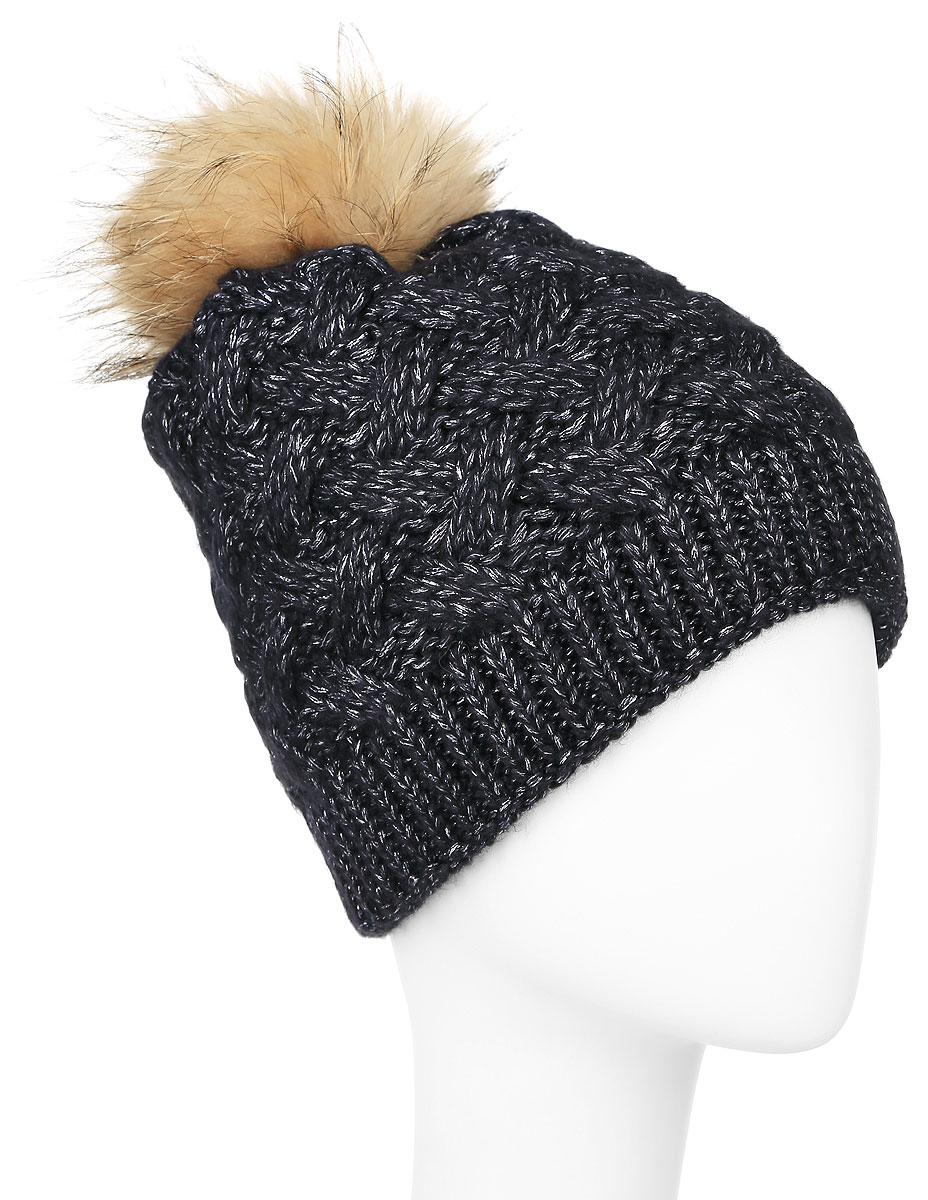 Шапка женская Baon, цвет: темный серо-синий. B346538. Размер универсальный шапка женская baon цвет темно синий b346512 размер универсальный