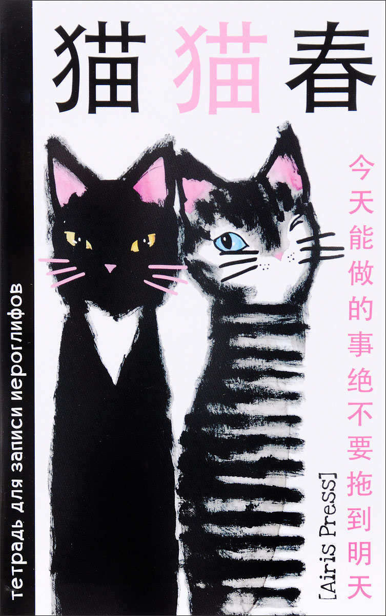 Два кота. Тетрадь для записи иероглифов тетрадь для записи иероглифов