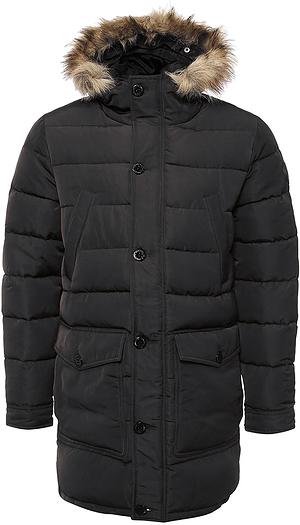 Куртка мужская Broadway, цвет: серо-зеленый. 20100314. Размер L (50)20100314_879Мужская куртка Broadway выполнена из 100% полиэстера. Изделие дополнено подкладкой из полиэстера и утеплителем из пуха, пера и полиэстера. Модель с несъемным капюшоном и длинными рукавами застегивается на застежку-молнию и имеет ветрозащитную планку на пуговицах. Край капюшона дополнен эластичным шнурком-кулиской со стоплерами и оформлен искусственным мехом. Низ рукавов обработан манжетами на кнопках. Спереди расположено два накладных кармана с клапанами на пуговицах, два открытых боковых кармана и два прорезных кармана на кнопках, а с внутренней стороны - накладной карман на липучке.