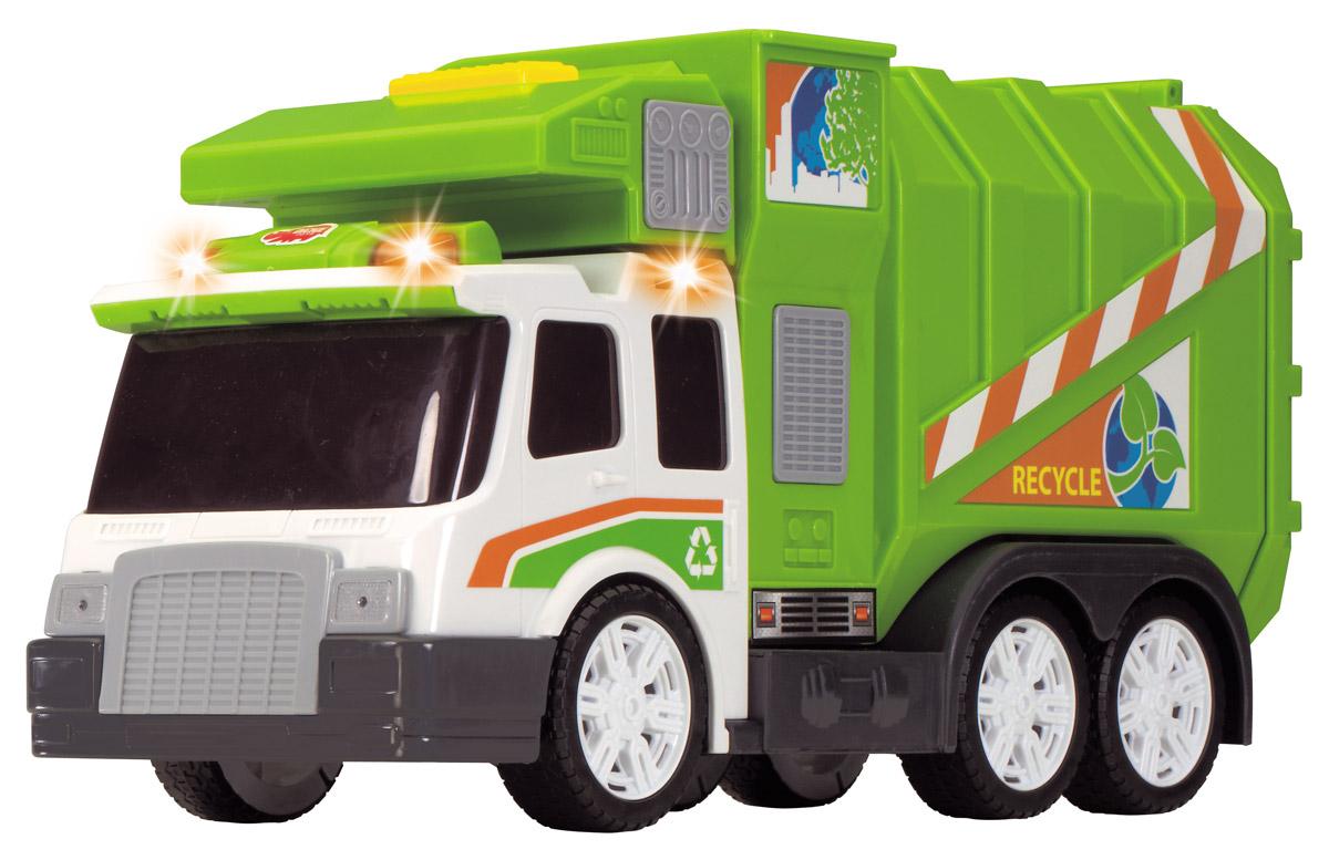 Dickie Toys Мусоровоз цвет зеленый dickie мусоровоз 30 см