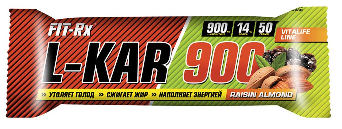 FIT-RX Л-карнитин 900 миндаль с изюмом (24 х 50 г.) NEW4602242008804Изюм, глазурь кондитерская (лауриновый заменитель какао-масла, сахар, какао-порошок, эмульгатор лецитин, ароматизатор ванилин), глюкозный сироп, концентрат сывороточного белка, сыворотка молочная сухая, миндаль, сахар, кокосовая стружка, вода, пшеничные волокна, мальтодекстрин, ароматизатор «Ваниль-Орех», L-карнитин, премикс витаминный (витамин С, ниацин, витамин Е, пантотеновая кислота, витамин В6, витамин В1, витамин В2, витамин В12, фолиевая кислота, биотин), консервант сорбат калия, антиокислитель аскорбиновая кислота.Как повысить эффективность тренировок с помощью спортивного питания? Статья OZON Гид