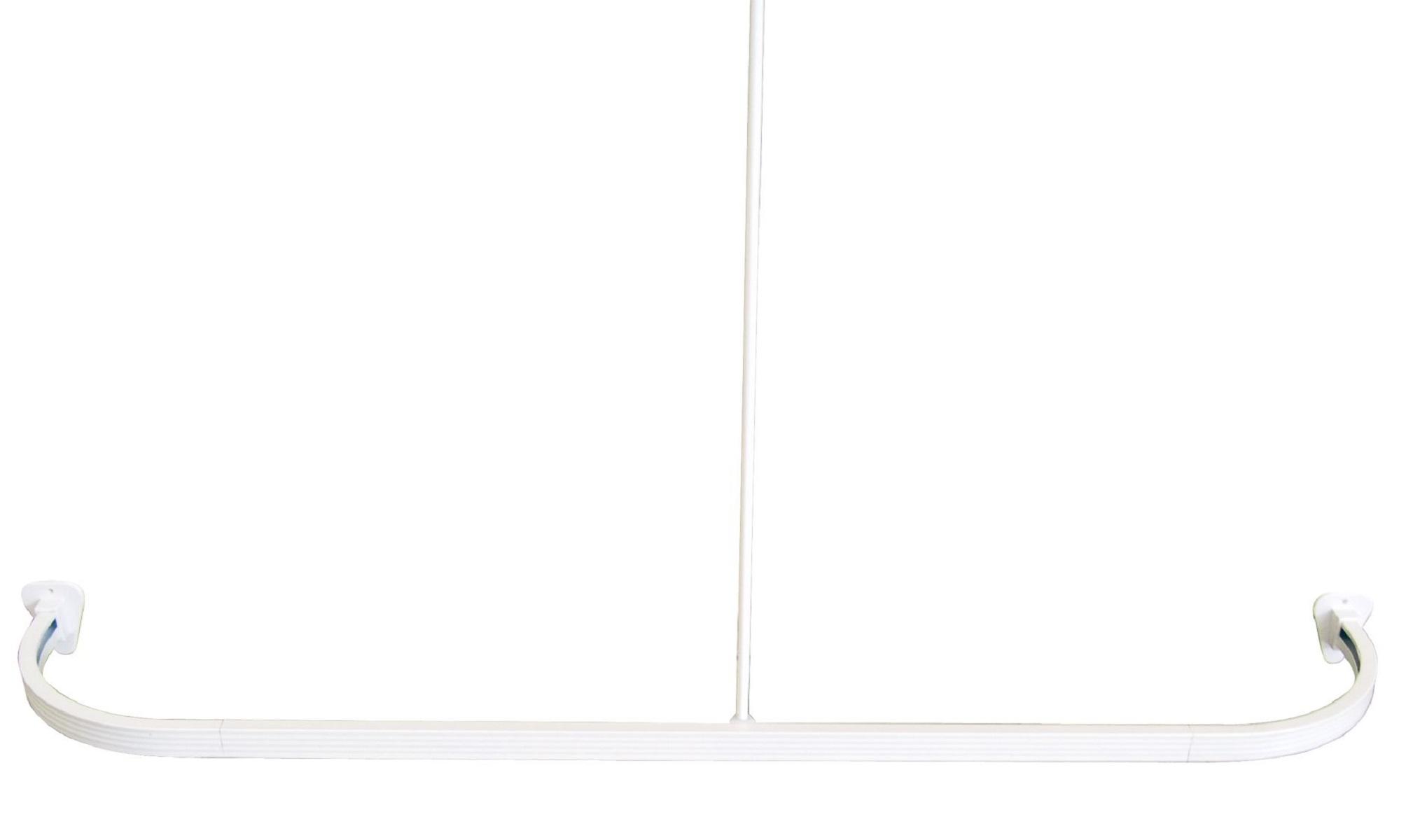 Штанга для ванной комнаты Ridder, универсальная, цвет: белый. 5250152501Высококачественная немецкая штанга выполнена из алюминия. Максимальный размер: 160 х 70 см. Крючки для штор вставляются в нижние полозья. Для предотвращения царапин на штангу из спрессованного алюминия наносится специальное покрытие. Установка данной штанги требует сверления. Комплект: штанга - 3 шт штанга потолочная - 1 шт угловой соединитель - 2 шт крепление к стене - 2 шт саморез+дюбель - 6 шт