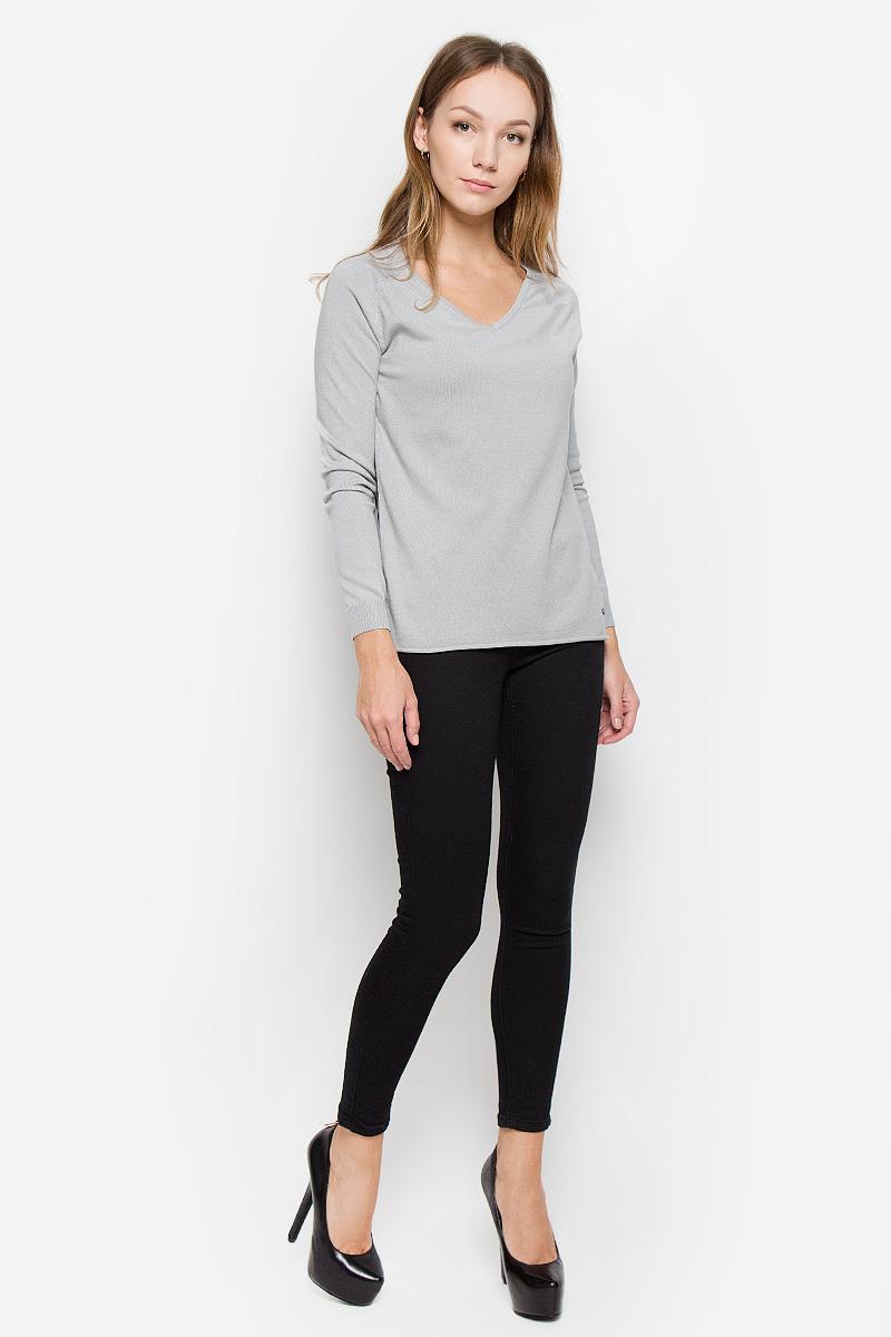 Джемпер женский Finn Flare, цвет: светло-серый. W16-11110_211. Размер M (46) брюки женские finn flare цвет черный w16 170150 200 размер m 46