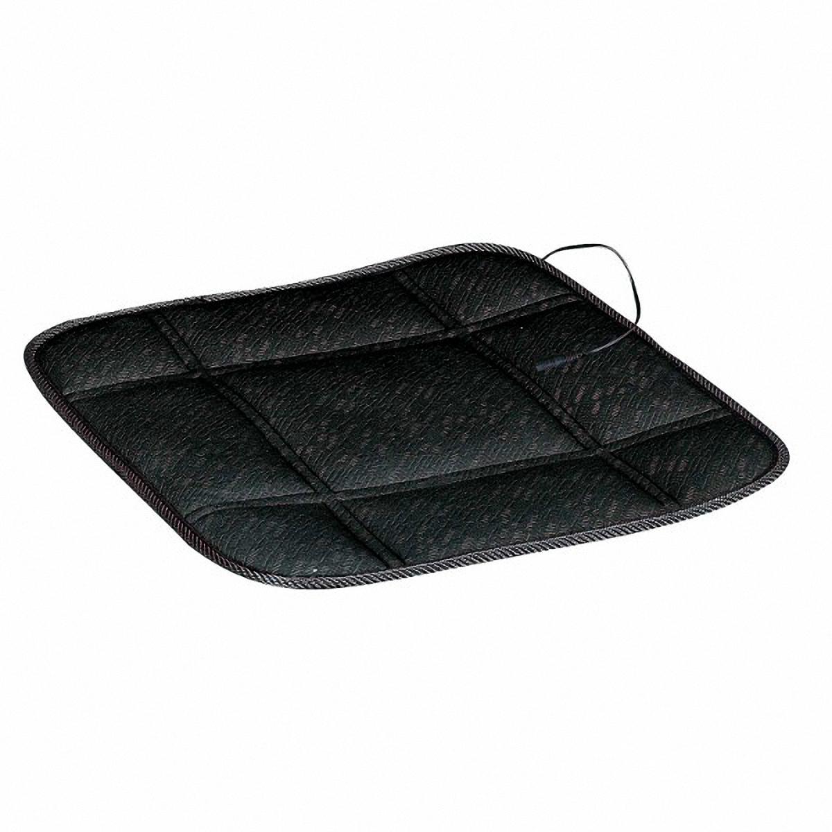 Подогрев для сиденья Skyway, без спинки, цвет: черный, 43 х 43 смS01303009В подогреве для сиденья Skyway в качестве теплоносителя применяется углеродный материал. Такой нагреватель обладает феноменальнойгибкостью и прочностью на разрыв в отличие от аналогов, изготовленных из медного или иного металлического провода. Особенности: - Универсальный размер. - Снижает усталость при управлении автомобилем. - Обеспечивает комфортное вождение в холодное время года. - Простая и быстрая установка. - Быстрый и интенсивный режим нагрева. - Защита крепления шнура питания к подогреву. Устройство подключается к прикуривателю на 12В Сила тока: 2,5-3 А. Напряжение: 12В.
