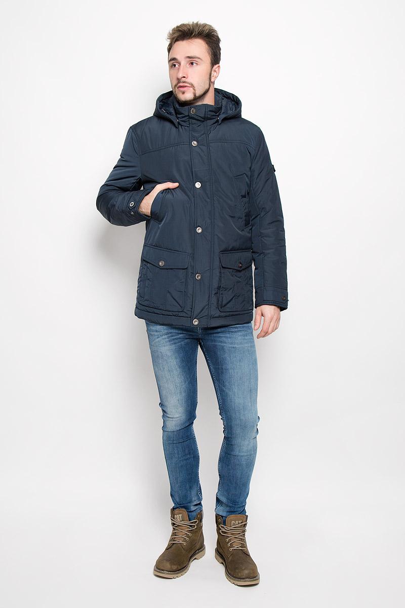 Куртка мужская Finn Flare, цвет: темно-синий. W16-42005_100. Размер S (46)W16-42005_100