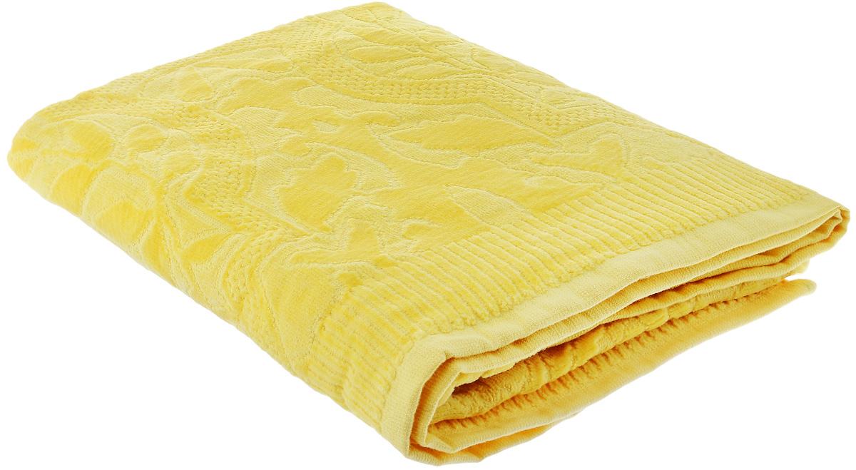 """При производстве полотенца Guten Morgen """"Лимон"""" используется сырье самого высокого качества: безопасные красители и 100% хлопок. Полотенца - это просто необходимый атрибут каждой ванной комнаты в любом доме. Полотенца Guten Morgen отлично впитывают влагу, комфортны для кожи, не содержат аллергенных красителей, имеют стойкий к стирке цвет. Состав: 100% хлопок;  Размер: 70 х 130 см."""