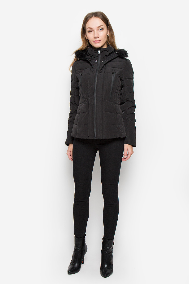 Куртка женская Broadway Neelam, цвет: черный. 10156521. Размер XL (50) лонгслив женский broadway alessia цвет дымчато розовый 10156860 460 размер xl 50